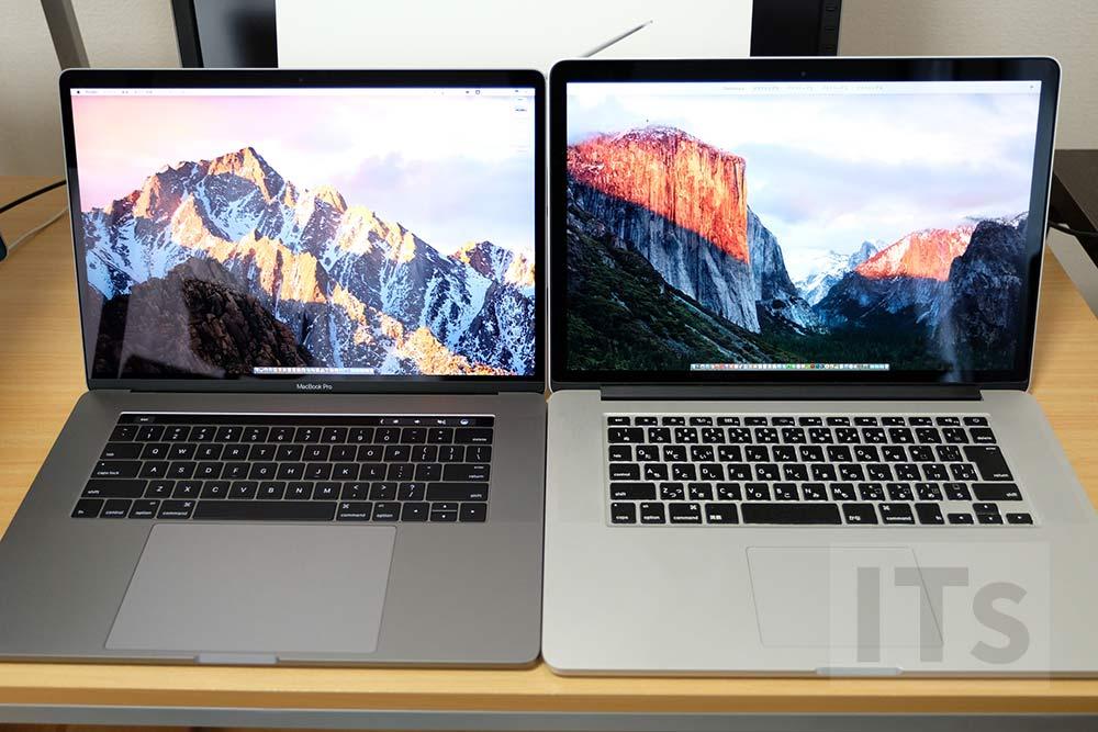 15インチ MacBook Pro 2016と15インチ MacBook Pro 2013 比較