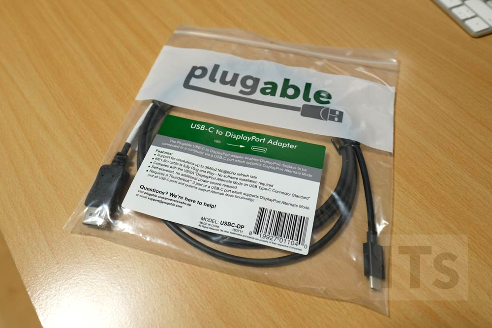 Plugable USB 3.1 Type C (USB-C) - DisplayPort 変換ケーブル