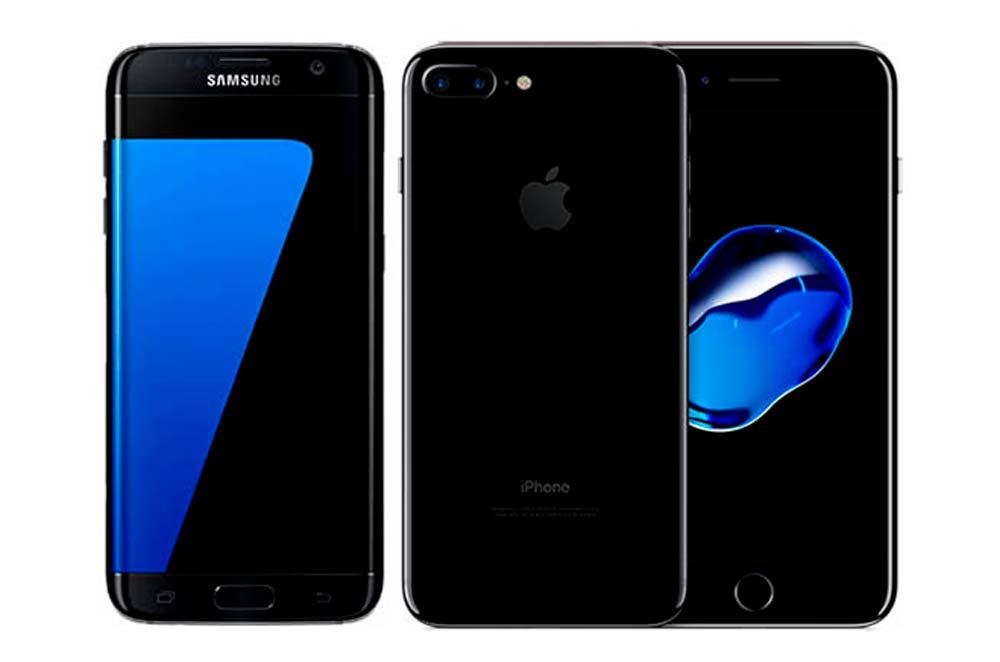 Galaxy S7 と iPhone7 Plus