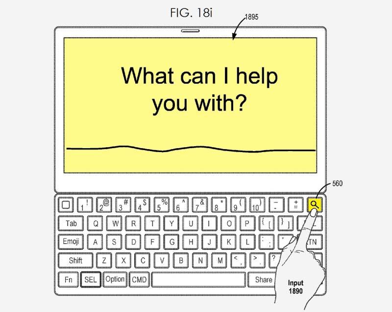 Smart Keyboard 2 サーチボタン 特許