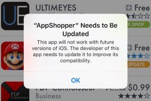 iOS10.3 32ビットAppの警告