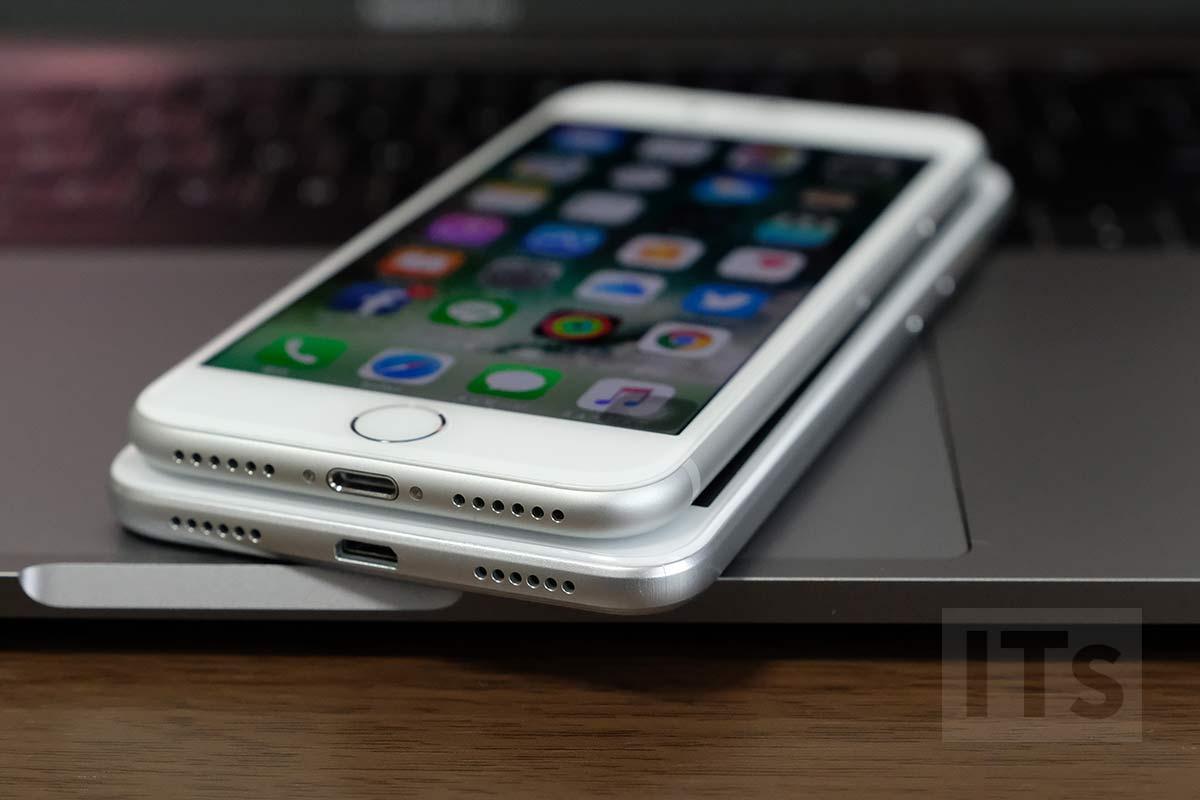 iPhone7とHUAWEI nova lite 電源部分