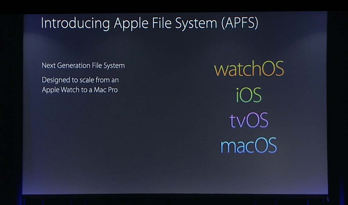 Apple File System(APFS)