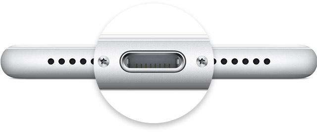 iPhone lighteningコネクタ