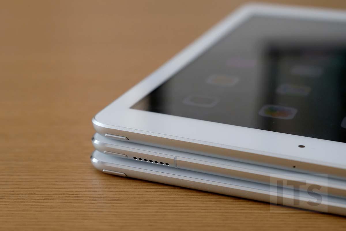 iPad(第5世代)・iPad Pro・iPad Air 2 本体比較 上部