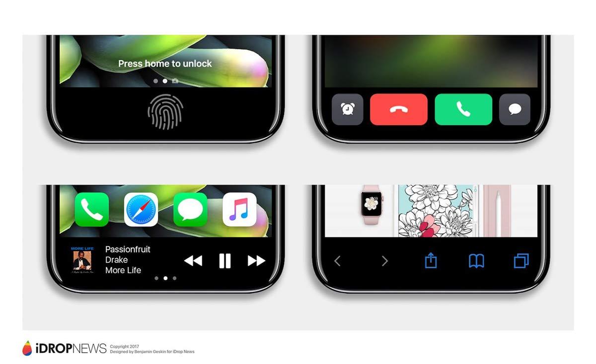 iPhone8 ファンクショエリア