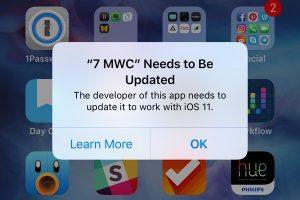 iOS11 32bitアプリの起動