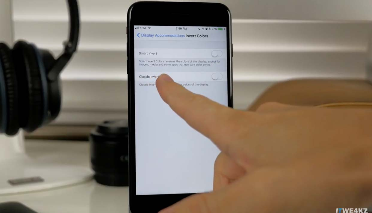 iOS11 スマート反転