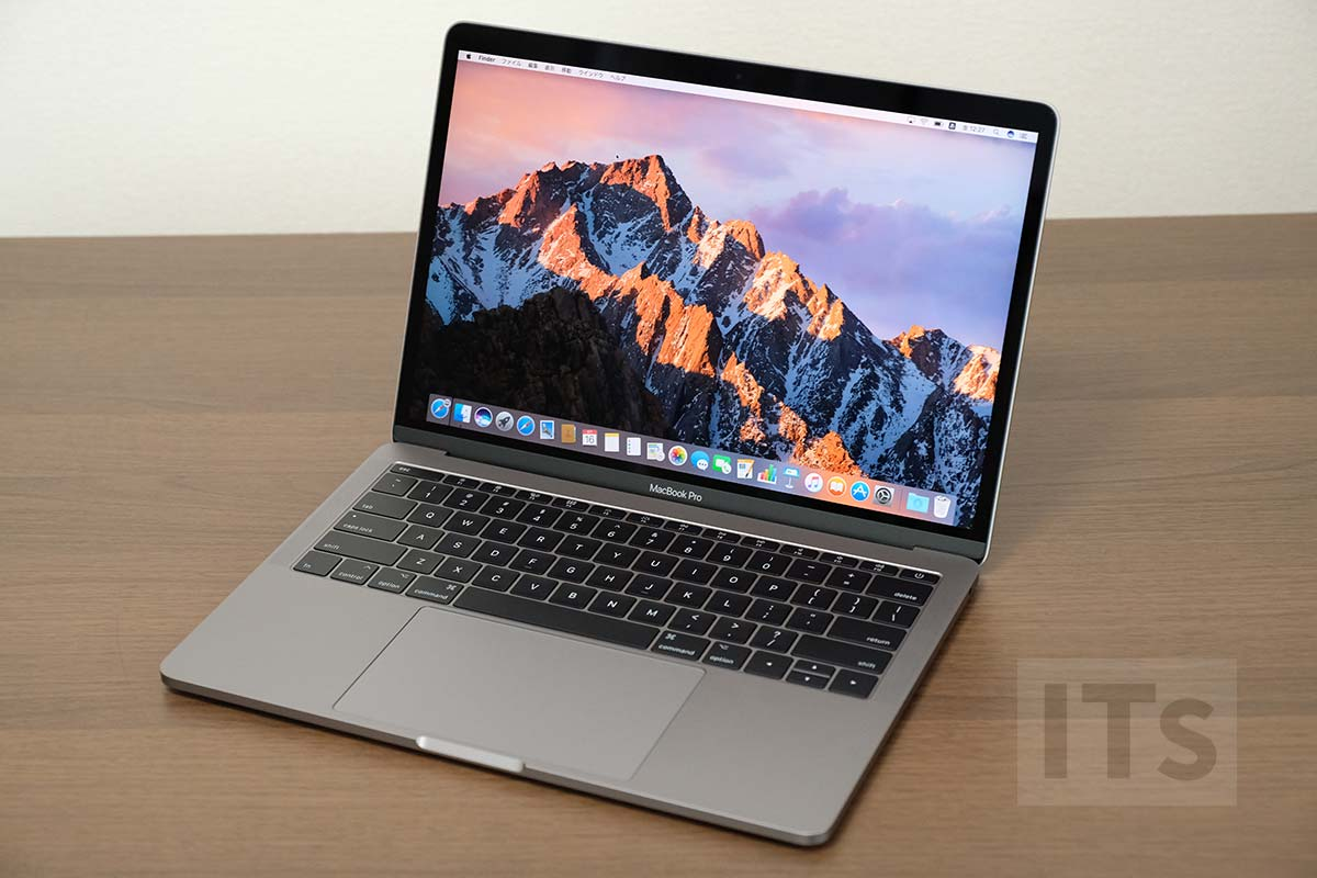 13インチMacBook Pro 2017 本体デザイン