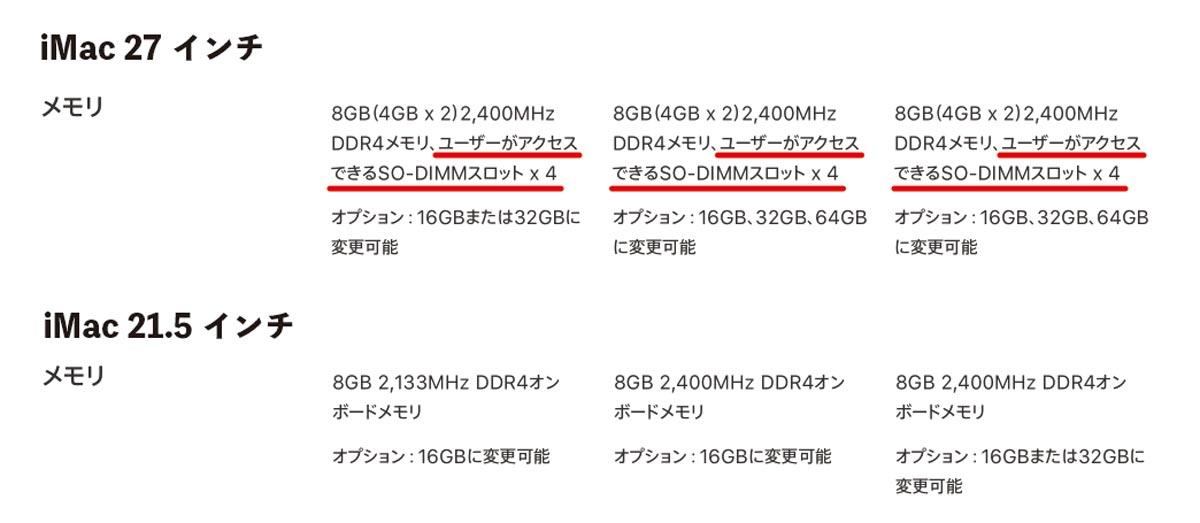 iMac 2017 RAMの交換