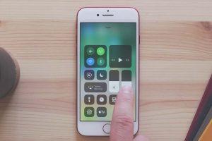 iOS11 コントロールセンターで音量調整