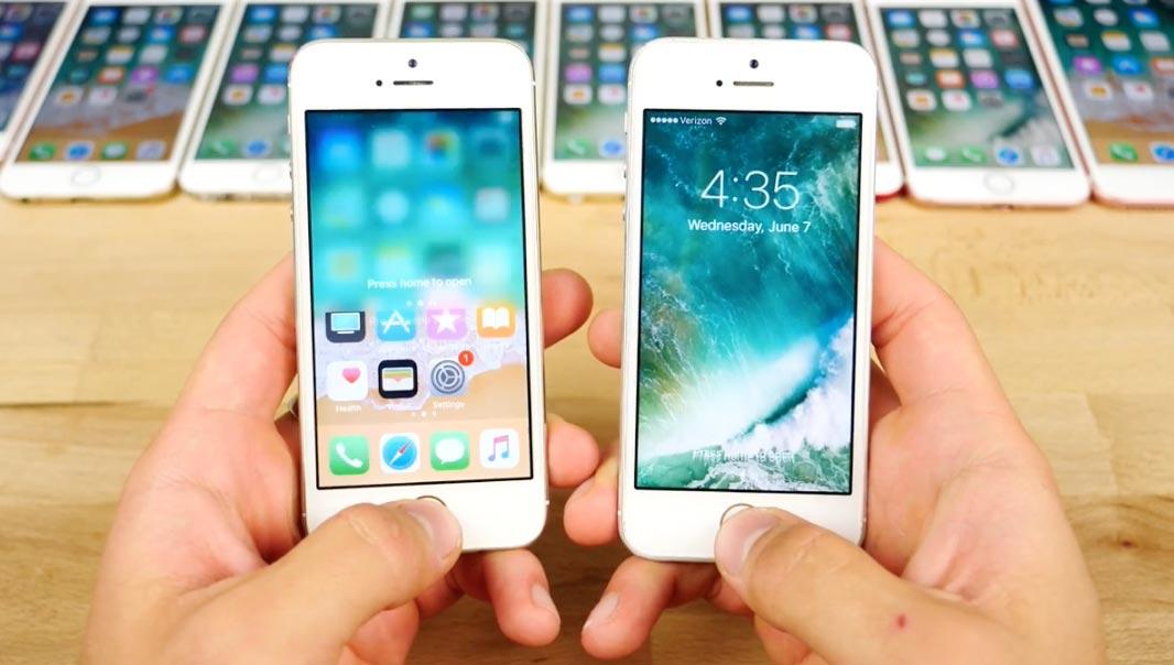 iOS11とiOS10.3.2 ロック解除