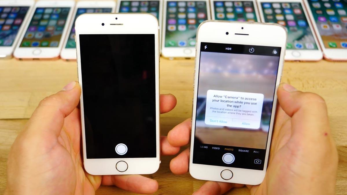 iOS11 beta vs iOS10.3.2 起動速度