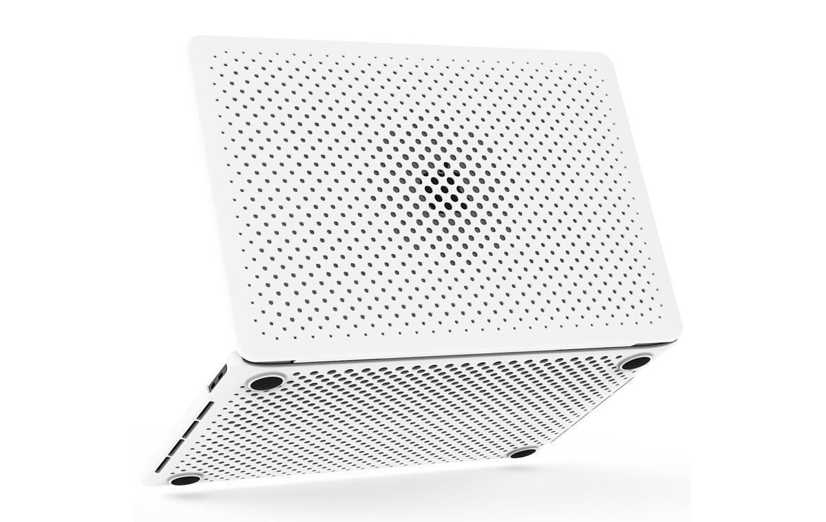 13インチMacBook Pro AndMeshメッシュケース ホワイトモデル