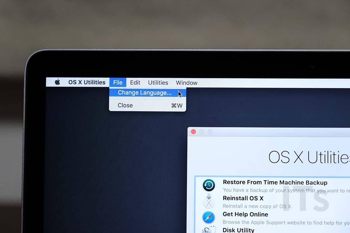 macOS クリーンインストール 言語設定