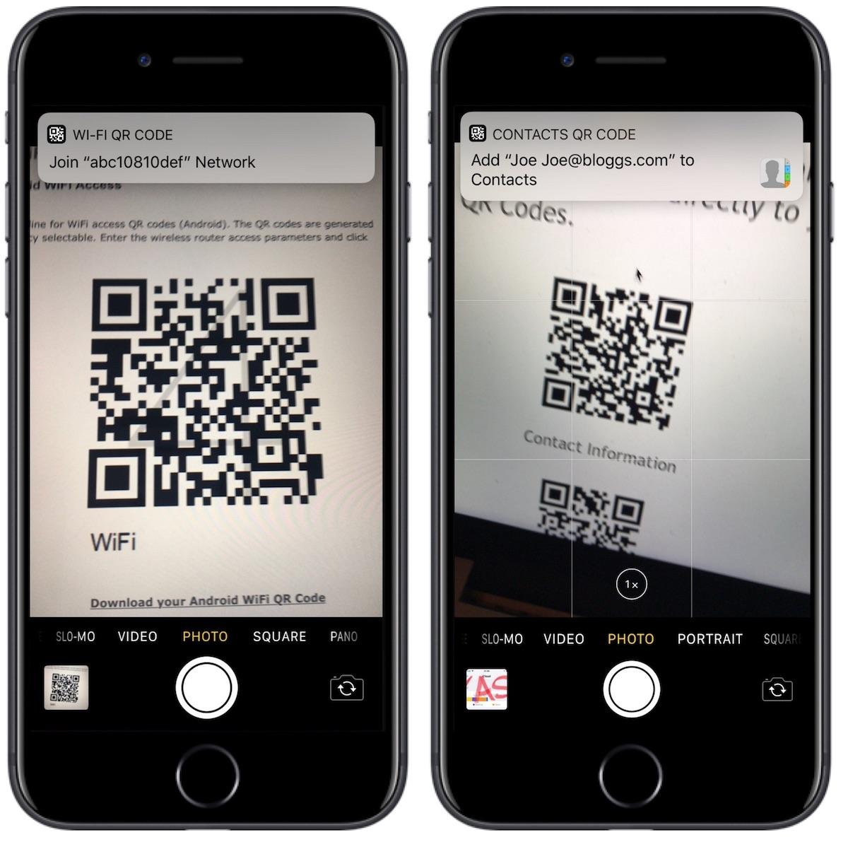 iOS11 QRコード