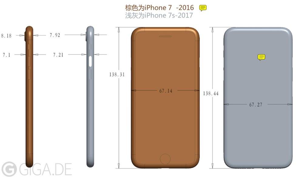 iPhone7s/7s サイズ