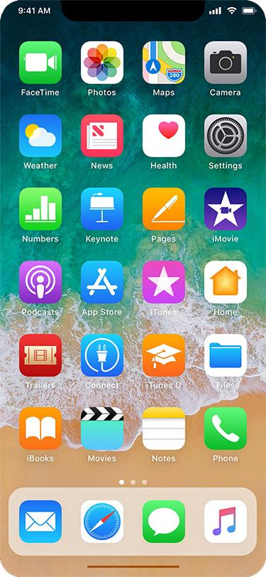 iPhone8 ホーム画面