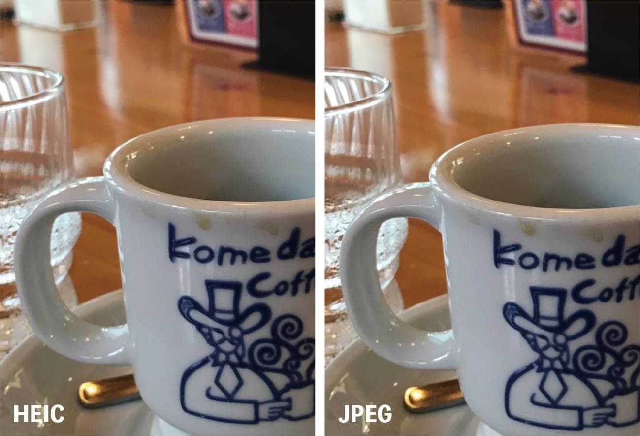 HEICとJPEGの画質