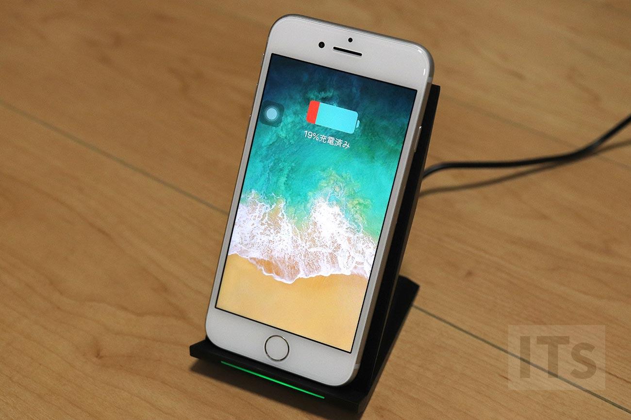 iphone 8のワイヤレス充電速度を時間計測したら意外と速くて使えるレベル