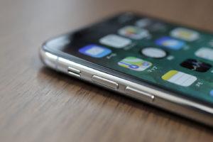 iPhone X 音量ボタン
