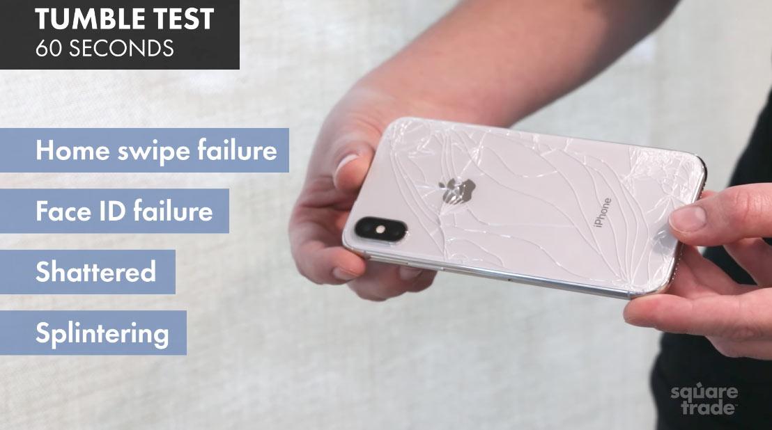 iPhone X 落下試験