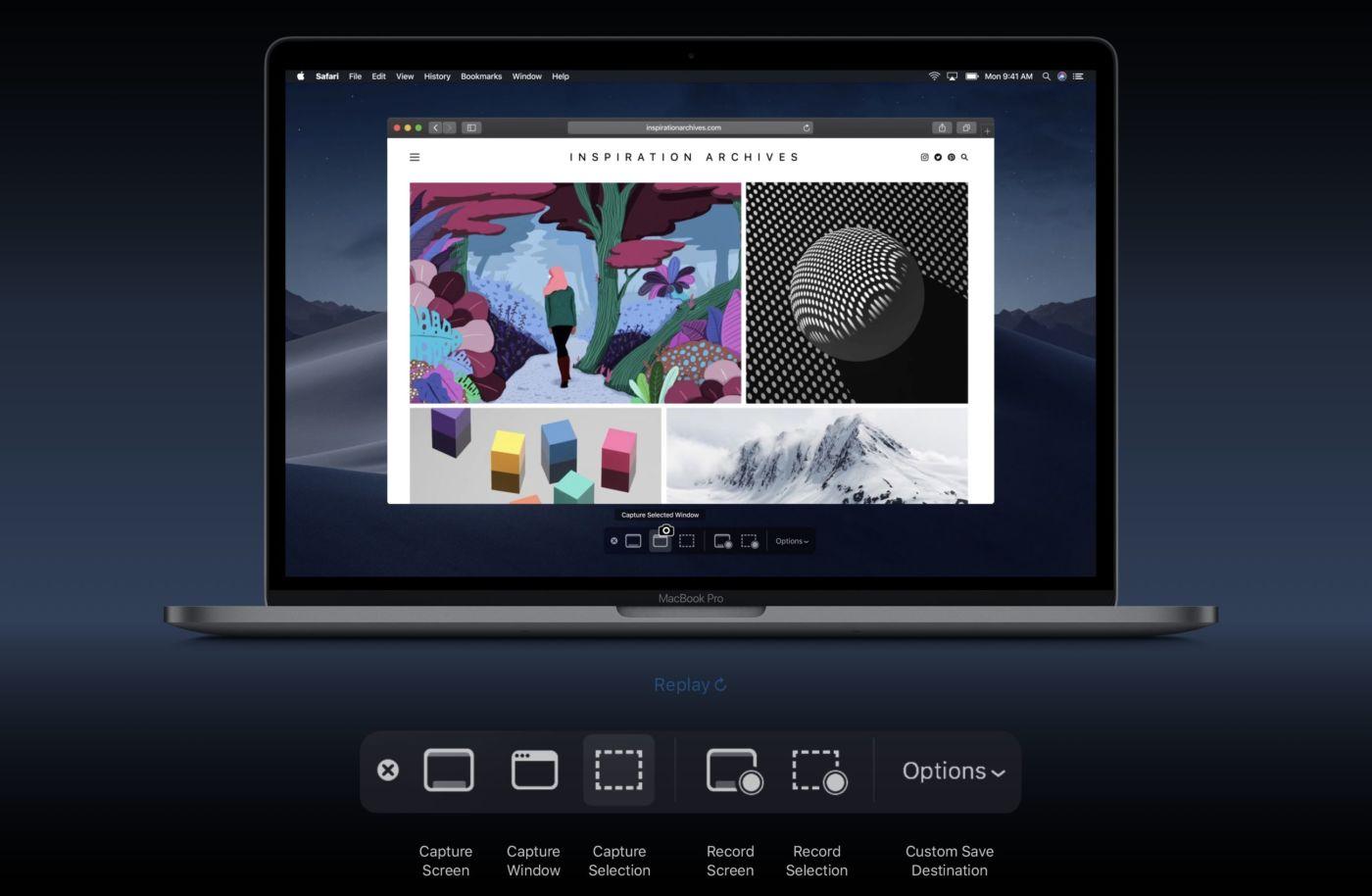 スクリーンショット macOS Mojave