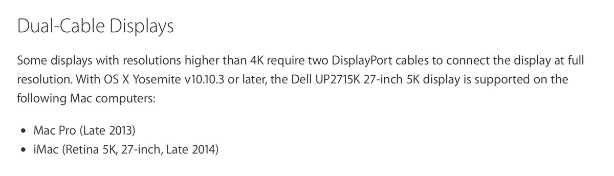 5k apple dell