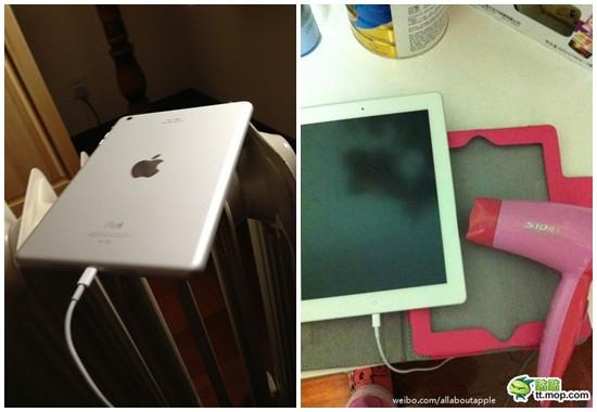 iPad 寒くて充電できない