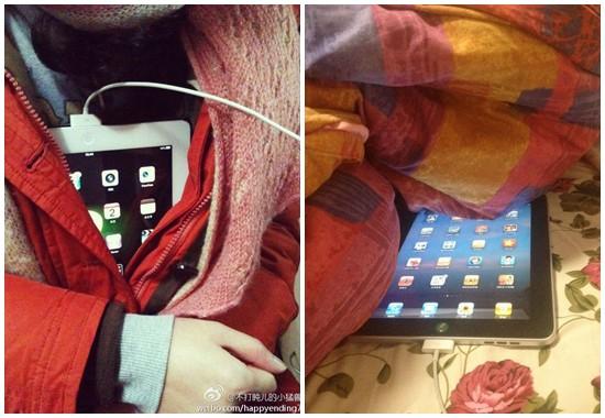 iPad充電 暖める