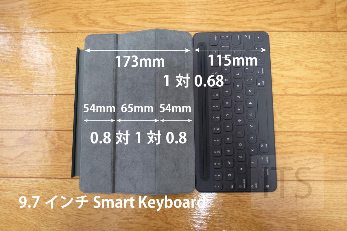 9.7インチ Smart Keyboardの比率