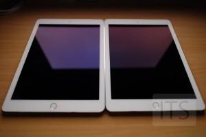 9.7インチiPad Proの光の反射