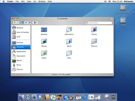 Mac OS X v10.3 Panther