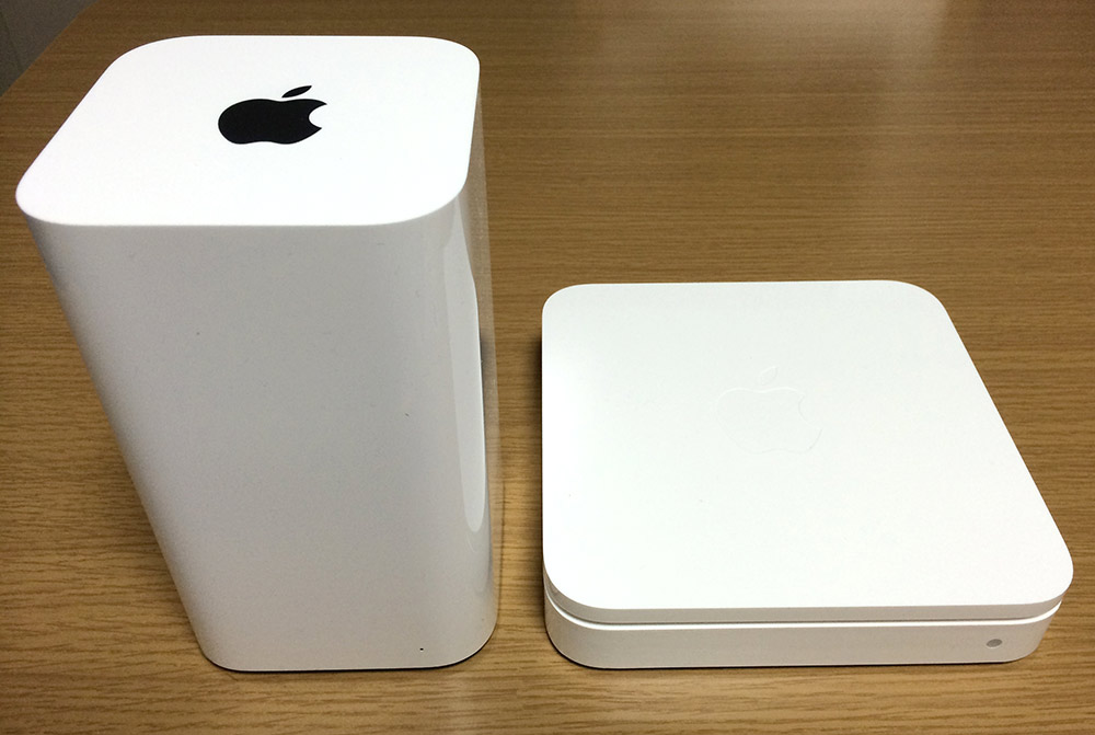 AirMac Time CapsuleとAirMac Extremeの比較