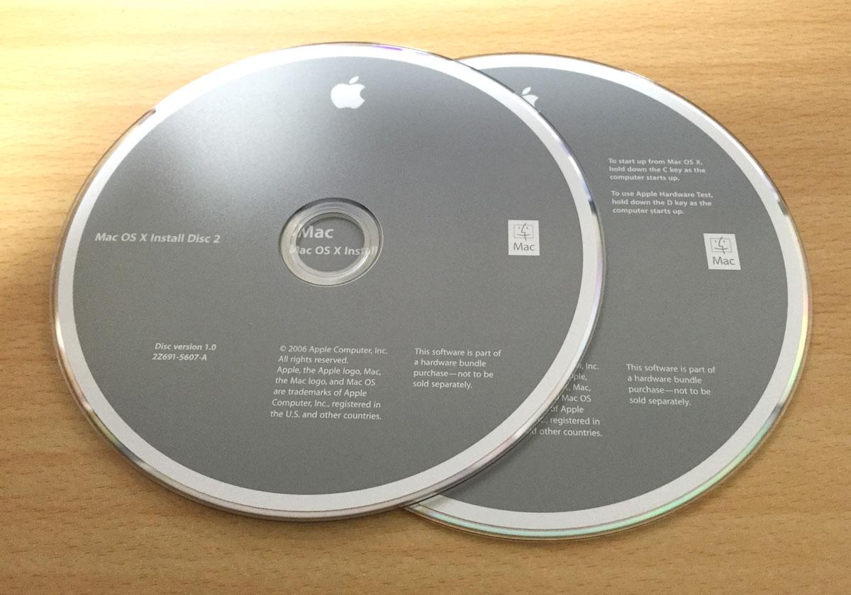 OS X 10.4 インストールディスク