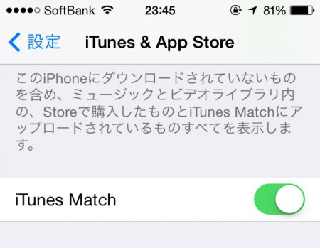 iTunes Match iOS