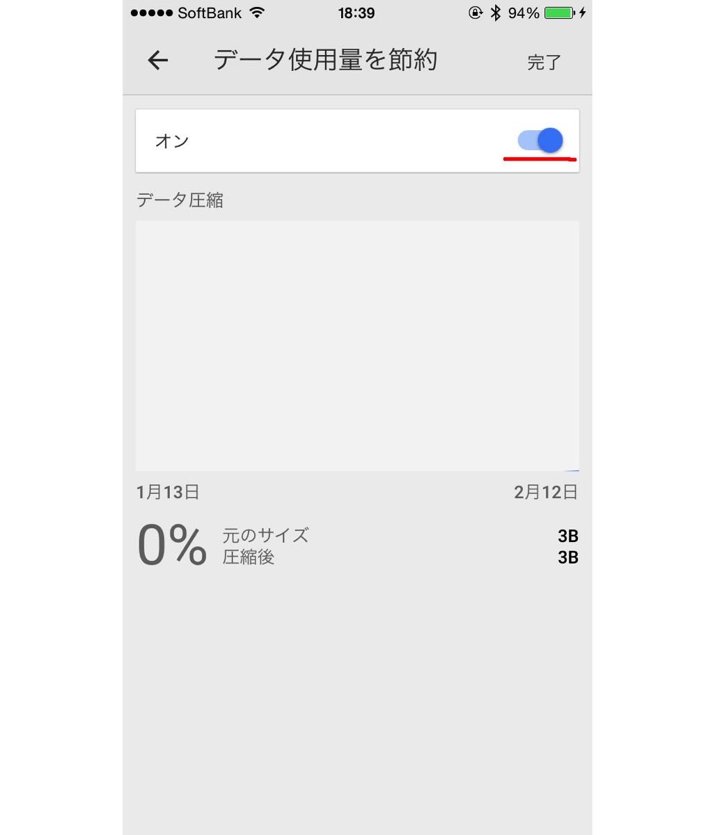 Chrome データ使用量節約