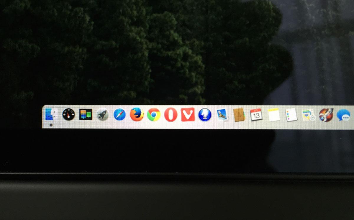 OS X Yosemite Dock 透過処理オフ
