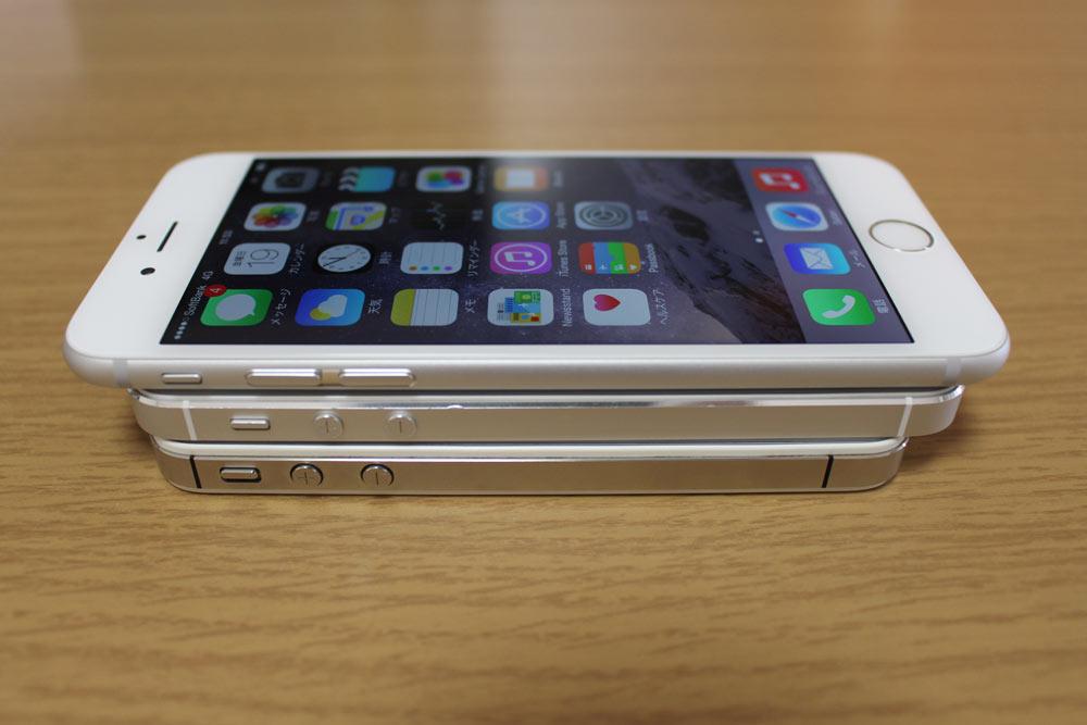 iPhone 4s/5s/6 薄さ比較