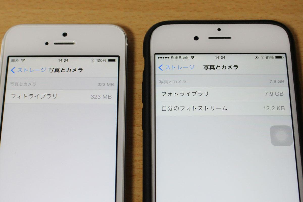 iCloudフォトライブラリ 容量削減
