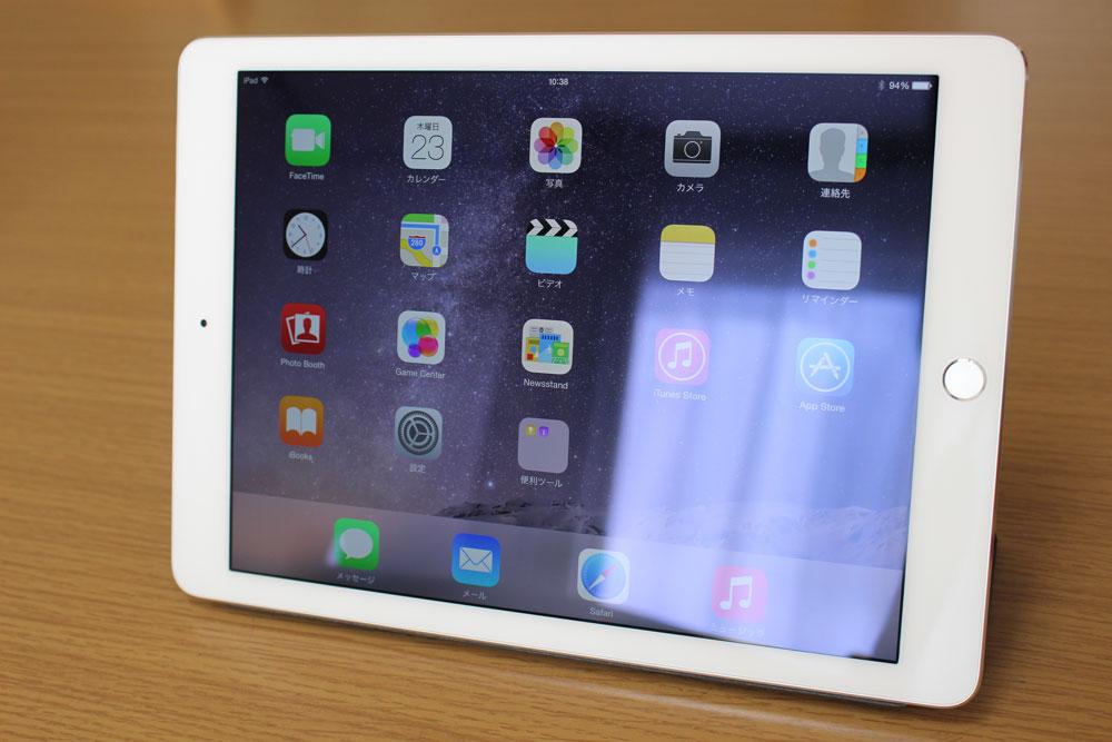 iPad Air2 ディスプレイの反射