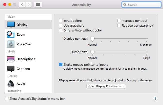 OS X El Capitan パブリックベータ5 マウス
