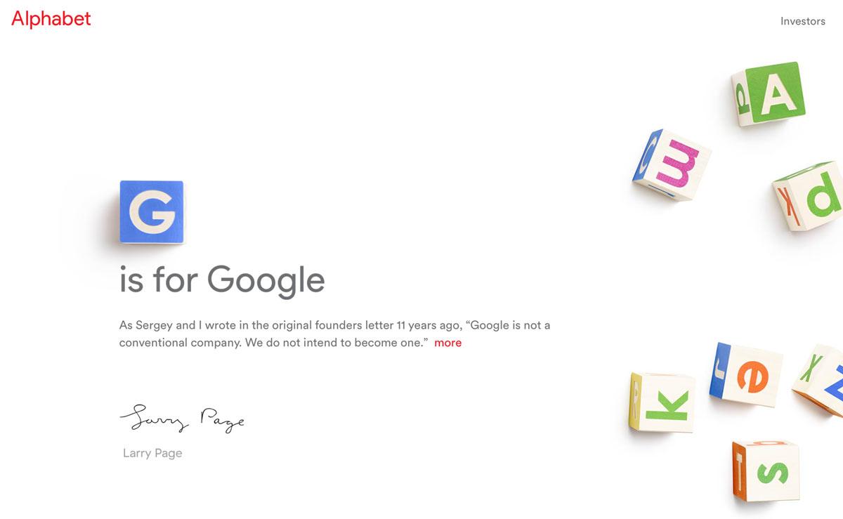 アルファベット google