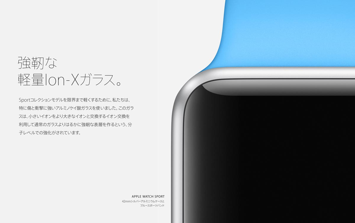 Apple watch Ion-Xガラス