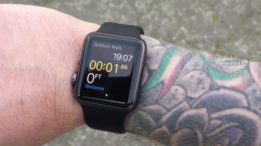 Apple watch tattoo