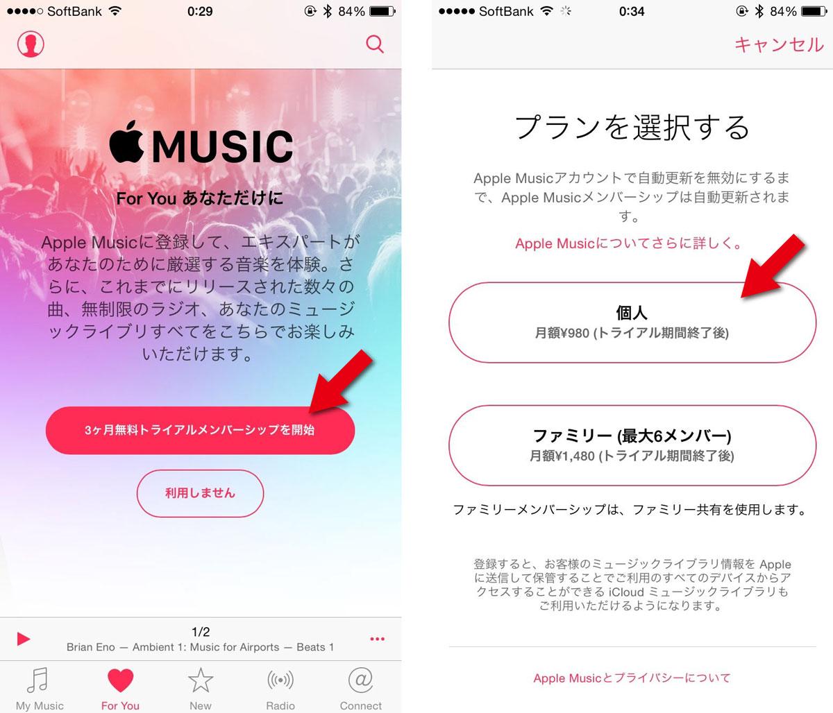 Apple Musicの加入