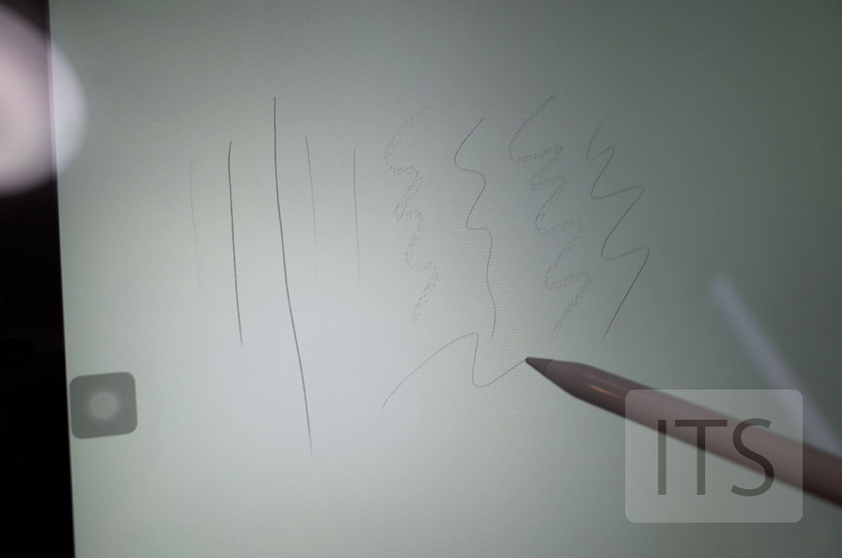 Apple Pencilの文字の太さ