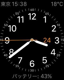 Apple Watch 電池残量の表示