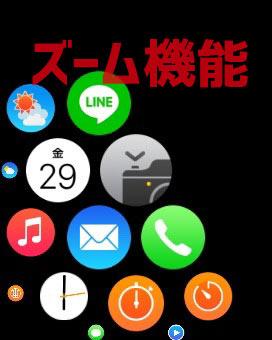 Apple Watch ズーム機能