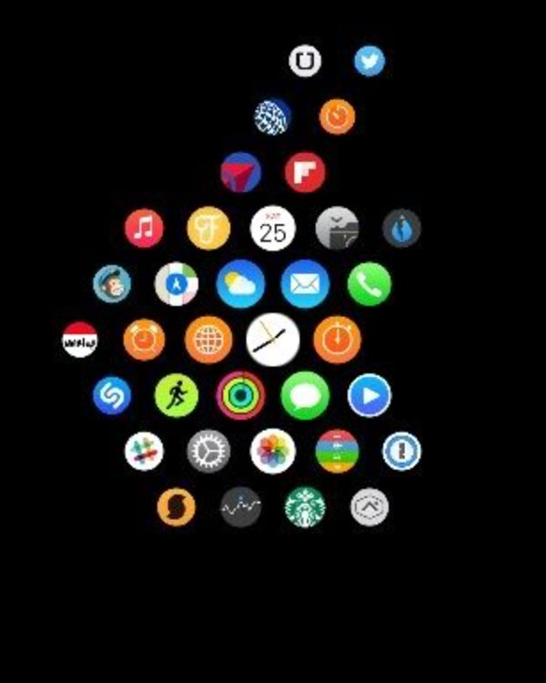 Apple Watch アプリレイアウト Appleマーク